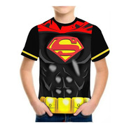 Kit 3 Camisa Camiseta Infantil Masculina Roupas Herois 3d