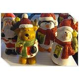 Decoración Navidad Figuras De Cerámica Conjunto De 4 Escarc