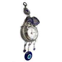 Relógio De Parede Decorativo Elefante Com Olho Grego 28cm