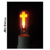 Lampada Vela Cruz Neon 3w 220v E27 Decorativa