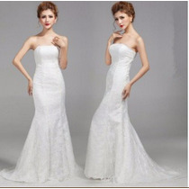 Vestido De Noiva Sereia Cauda Longa Tomara Q Caia P/ Entrega