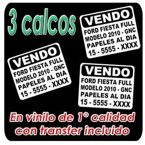 3 Calco Vendo Auto Sticker Vinilo Plotter De Corte