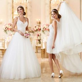 Vestido De Noiva 2 Em 1 - Sob Medida Frete Grátis