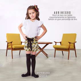 Short Para Niñas Aurinegro By Vita Plaud Kids - Talla 4