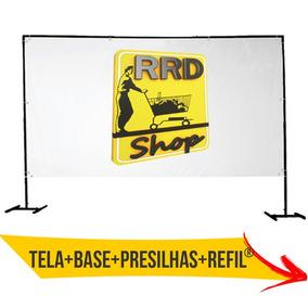 Tela Telão Rrd® Datashow Projetor Projeção Lona Fab. Propria