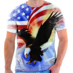 Camiseta Camisa Blusa Águia Azul Estados Unidos Simbolo 11