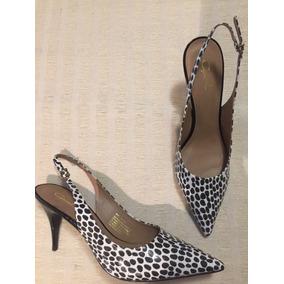Zapato Gacel De Cuero Animal Print, N*38. Bicolor.
