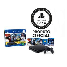 Console Playstation 4 Ps4 Slim 500gb Hits Bundle + 5 Jogos