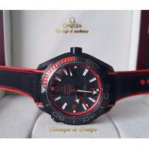 Relógio Eta Modelo Planet Ocean 600m Co-axial Gmt Deep Black