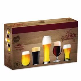 Kit Set Cerveza Especial Nadir 6 Vaso Ideal Regalo Geo Bazar