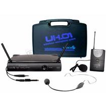 Microfone Sem Fio Headset Auricular Lapela Lyco - Oferta