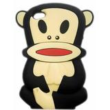 Capa Case Macaco 3d Emborrachada Macaquinho Iphone 4/4g/4s
