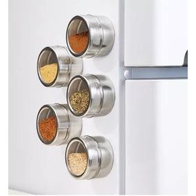 Set De 4 Especieros Magnético Adherible Al Refrigerador