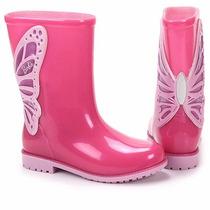 Bota Galocha Barbie Borboleta Rosa Infantil Frete Grátis
