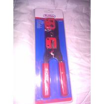 Crimpiadora Para Red Y Telefono Con Pela Cable, Rj45 Y 11