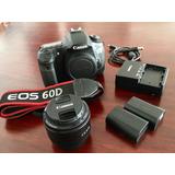 Canon Eos 60d+ 2 Baterias+lente Canon 50mm 1.8