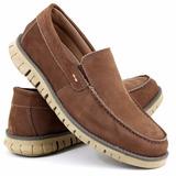 Calçado Jovem Moderno Sider 100% Couro Combina Jeans Bermuda
