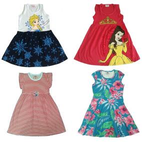 Kit Lote 6 Vestidos Infantil Feminino Roupa Menina Atacado