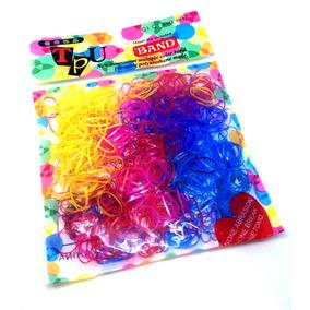 500 Unidades Elásticos De Silicone Coloridos Para Cabelo