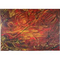 Cuadro Abstracto Pintura En Acrílico Muy Original 1.00x 70