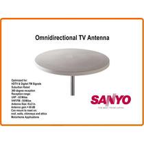 Antena De Tv Para Casa Rodante Motorhome, Marca Sanyo Japón.