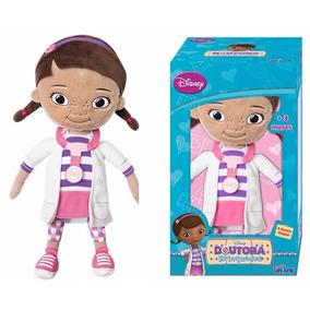 Boneca Dra Brinquedos 32cm + Lambie 32cm - Pelúcia Long Jump