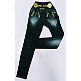 Calça Feminina Jeans Oxtreet Detalhe Corrente E Ziper