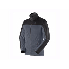 Campera Hombre Salomon Cruz Fz 2 Dark/black Talle S