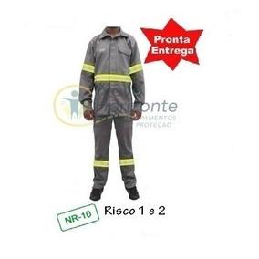 Uniforme Eletricista Retardante-chama Nr10 C/faixa Refletiva