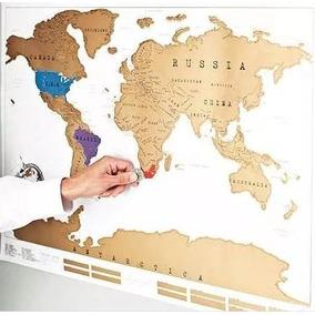 Mapamundi Planisferio Raspar Scratch Map Microcentro