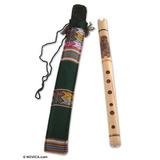 Novica Bambú Quena Flauta, Night Owl