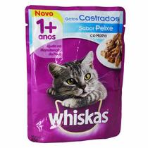 Whiskas Sachê Adulto Gatos Castrados Peixe Ao Molho - Cx 18