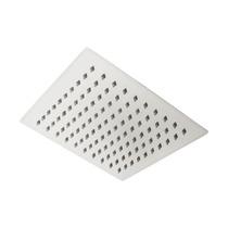 Ducha Chuveiro Slim Quadrado Metal Inox 20x20 S Braço 7717