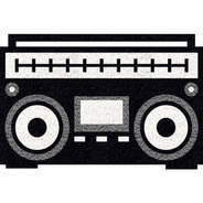 Tapete Vinil Radio Retro 60x40cm Preto