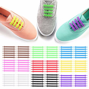Cordones Elasticos 100% Silicona All Colors