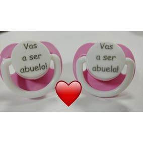 Abuelo / Abuela Chupete Personalizado ( 2 Unidades ) Rosa
