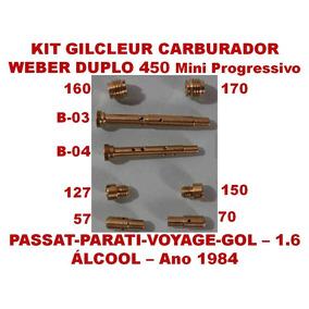 Kit Carburador Weber 450 Mini Gol Passat 1.6 Álcool 84/84