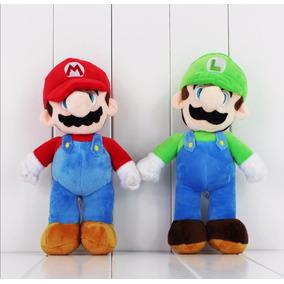 Set 2 Mario Bros Y Luigi 25 Cm Peluche Felpa