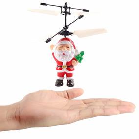 5 Mini Bonecos Do Papai Noel Drone Voador Com Sensor De Mão