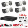 Kit Hd 1080p 4 Camaras Dvr 8canales Nube Internet Cctv Dahua