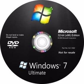 Dvd Formatar Windows 7 Ultimate Chave P/ Ativação 32/64 Bits