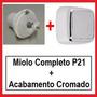 Reparo Miolo Valvula Descarga Lorenzetti P21 + Acabamento