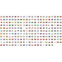 10 Banderas De Países 150 X 90 Cm Oficiales Refuerzo Y Sogas