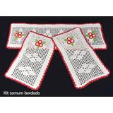 Tapete De Croche Em Barbante Kit Passadeira