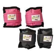 Caneleira / Tornozeleira Residencial Rosa 1 Kg  Par.