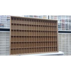 Estante Coleção Esmalte De Unhas 120 Nichos Mdf Natural S/a