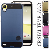 Funda Uso Rudo Diseño + Cristal Htc 650