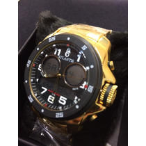 Relogio Atlantis Style G3216 Dourado/preto