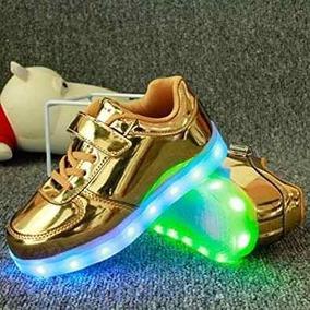 Zapatos Led Niña Dorados