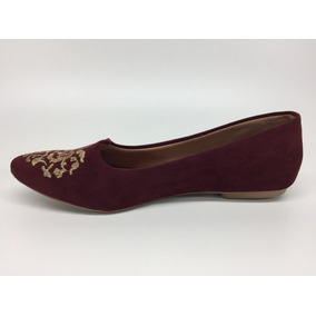 7026b0e329 Sapatilha Para Bordar - Sapatos Bordô no Mercado Livre Brasil